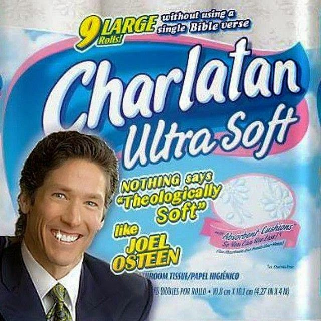 Funny Joel Osteen Charlatan Toilet Paper Picture