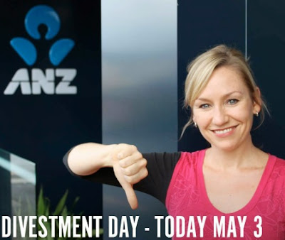 Divestment Day - ANZ and Larissa Waters