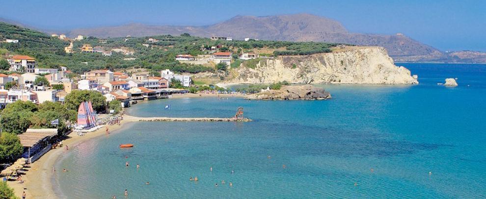Hellas Ferie Almyrida Stranden Pa Kreta Chania