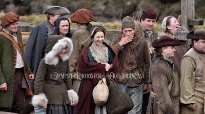 Foto de rodaje de Outlander