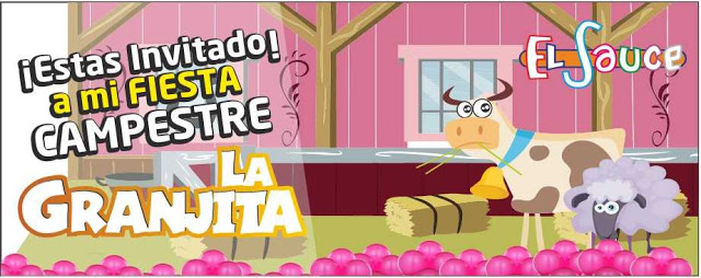Invitacion digital granero rosado paquetes fiesta cumpleaños Bogota