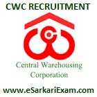 CWC MT, AE, JSA Recruitment