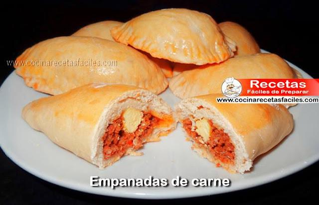 Receta de Empanadas de carne, una receta deliciosa, las empandas son muy ricas y es uno de los bocaditos que se suelen ofrecer en las reuniones y eventos.