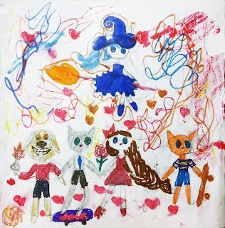 """детский рисунок """"друзья"""""""