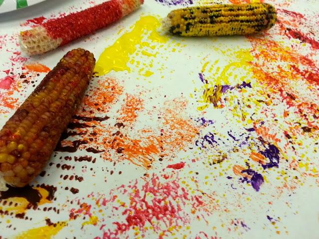 flint corn crafts, fall crafts for kids, autumn crafts for kids