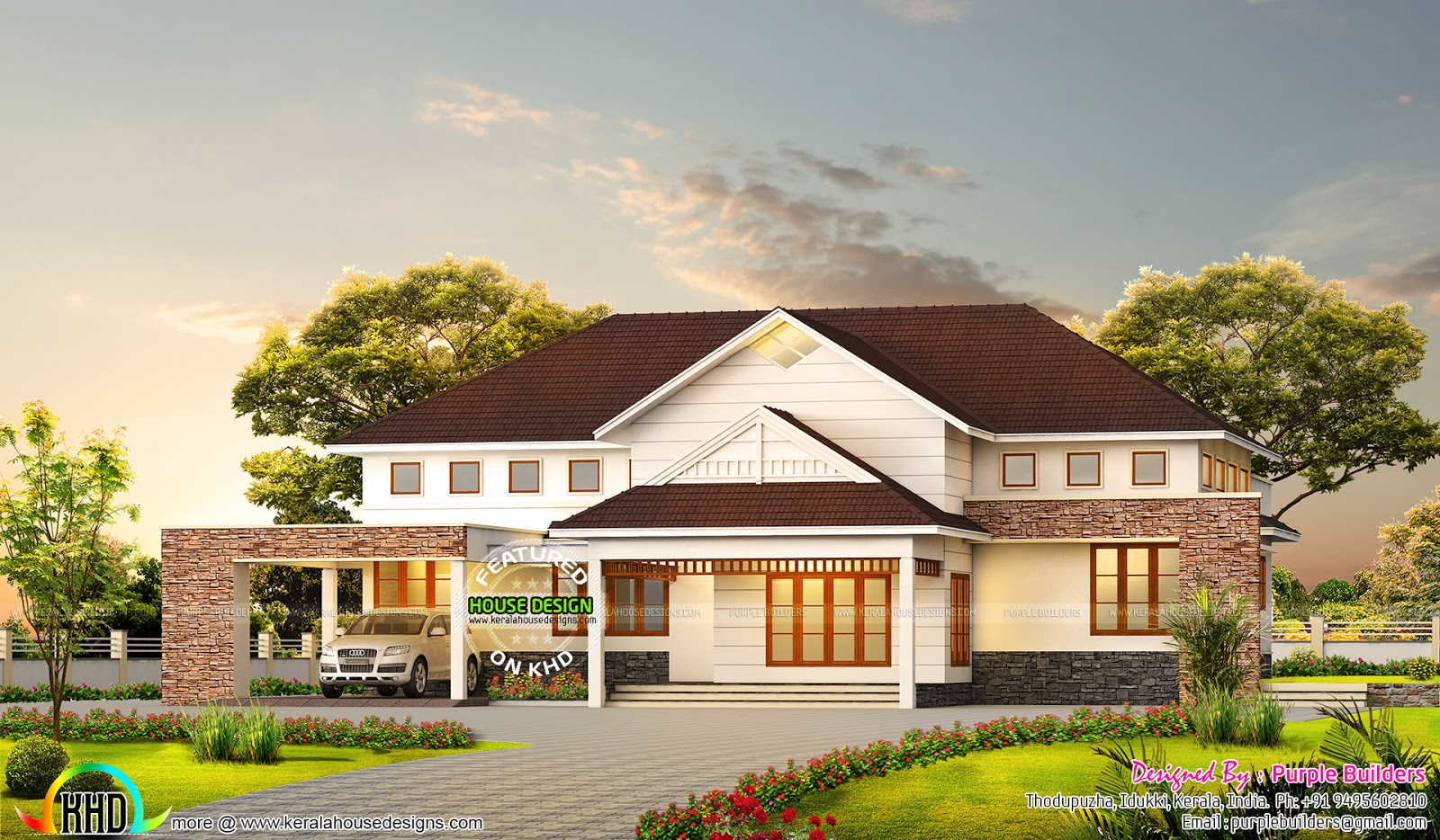 3000 sq ft 4 bedroom bungalow home kerala home design for 3000 sq ft house plans kerala