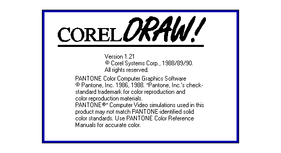 CorelDRAW 1.1 splash screen
