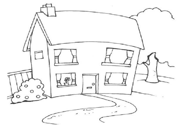 59 Gambar Mewarnai Rumah Untuk Anak Paud Tk Dan Sd Gambar