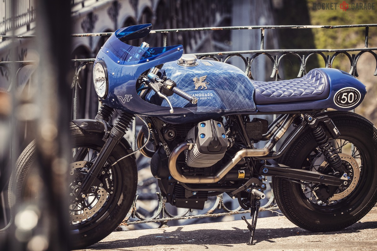 V7 Vanguard Moto Guzzi Rocketgarage Cafe Racer Magazine
