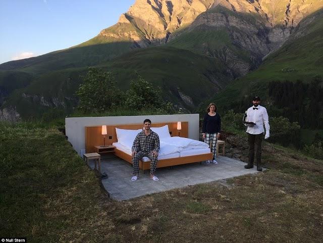 【旅遊趣聞】瑞士完全露天旅館 看着阿爾卑斯山的夜空入睡