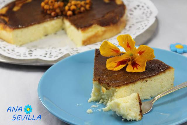 Tarta de queso La Viña (Thermomix, tradicional y olla GM)
