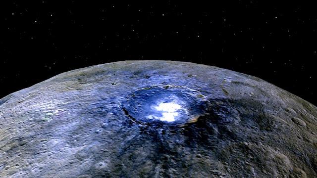 Ceres presenta material orgánico en su superficie