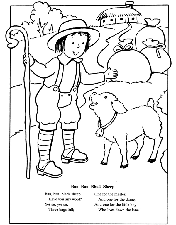baa baa black sheep coloring page inkspired musings nursery rhymes folk tales and