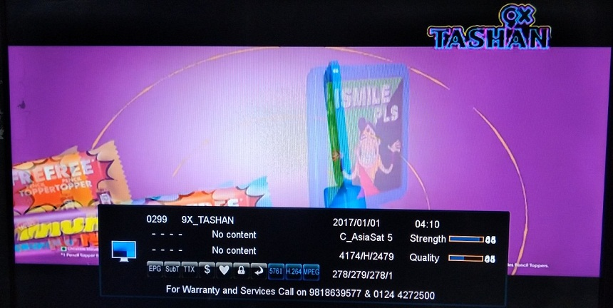 9X Tashan Punjabi Music Channel Free to air from Asiasat 7