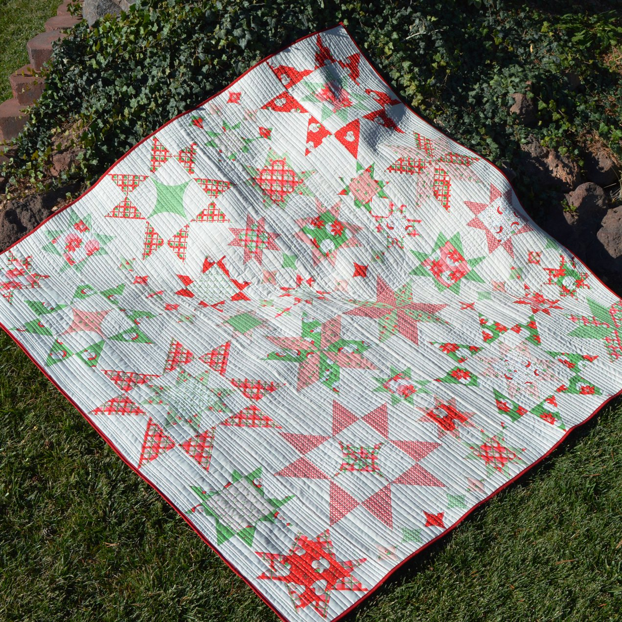 Happy Quilting Seeing Stars Quilt Finish