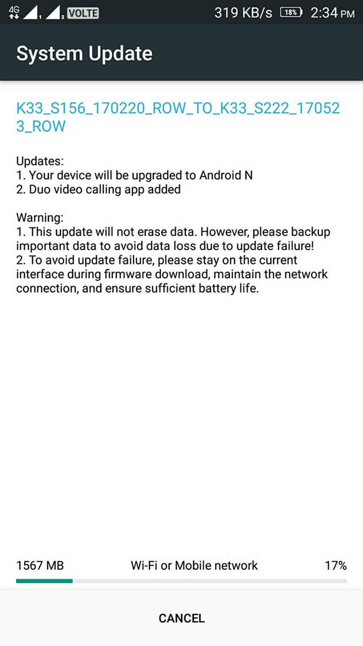 Lenovo K6 Power gets Android 7 0 Nougat Update in India