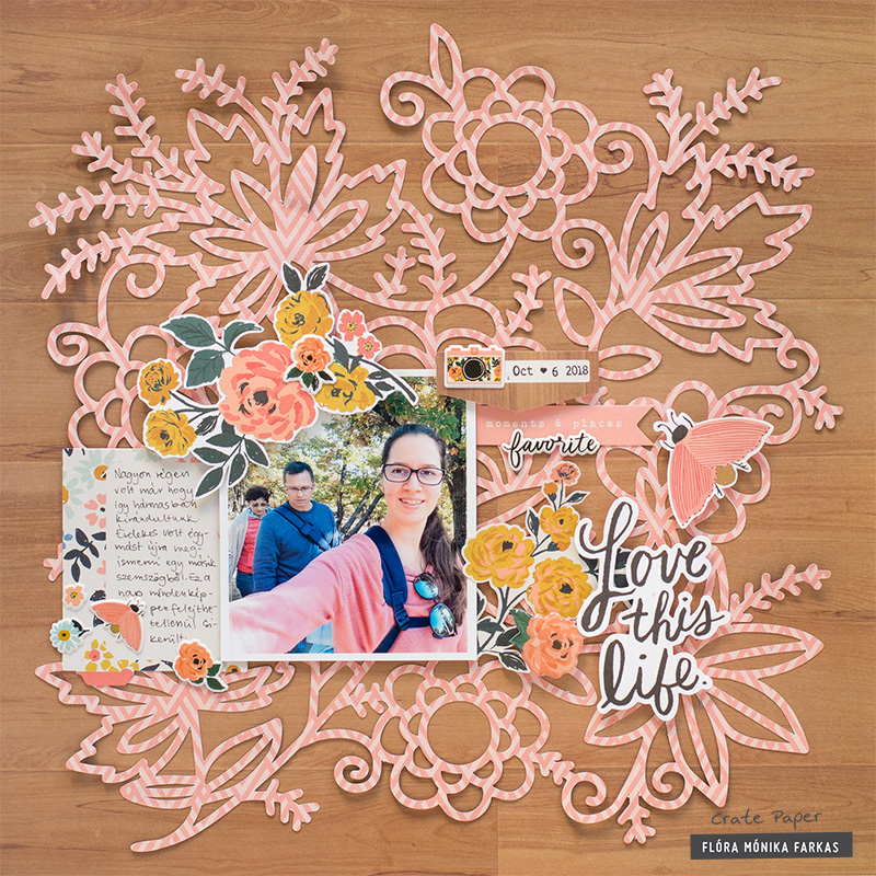 Crate Paper Journal Studio Scrapbook Layout