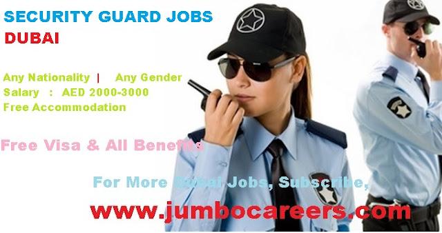 hospital security guard job vacancy in Dubai
