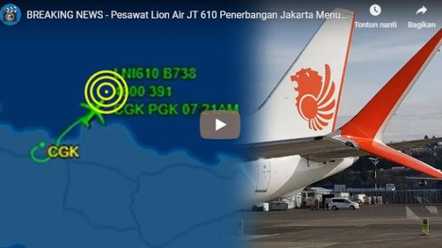 Basarnas Pastikan Pesawat Lion Air JT 610 Jatuh, Ini Rute Terahir Menurut Situs FlightRadar24
