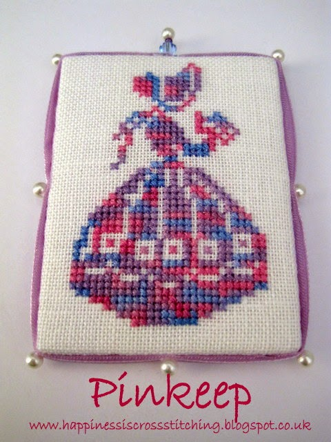 Cross stitch pinkeep by Lynn B