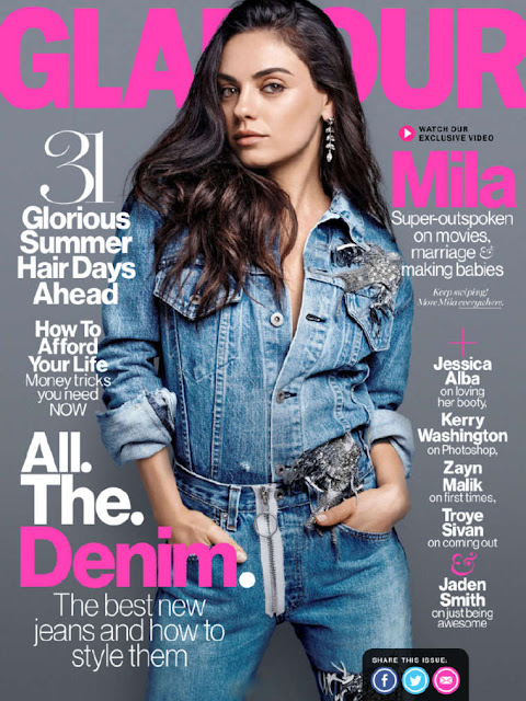 Actress, @ Mila Kunis - Glamour US ,August 2016