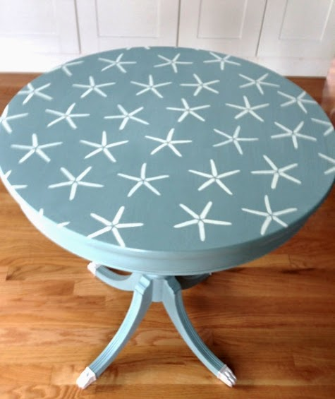 Starfish Stencil Table