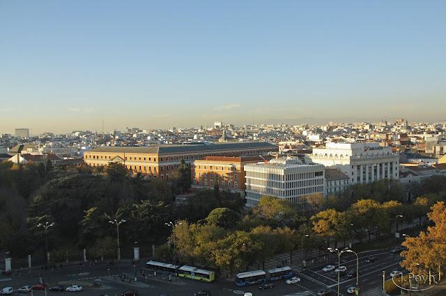 Vistas desde Palacio de la Cibeles, Madrid