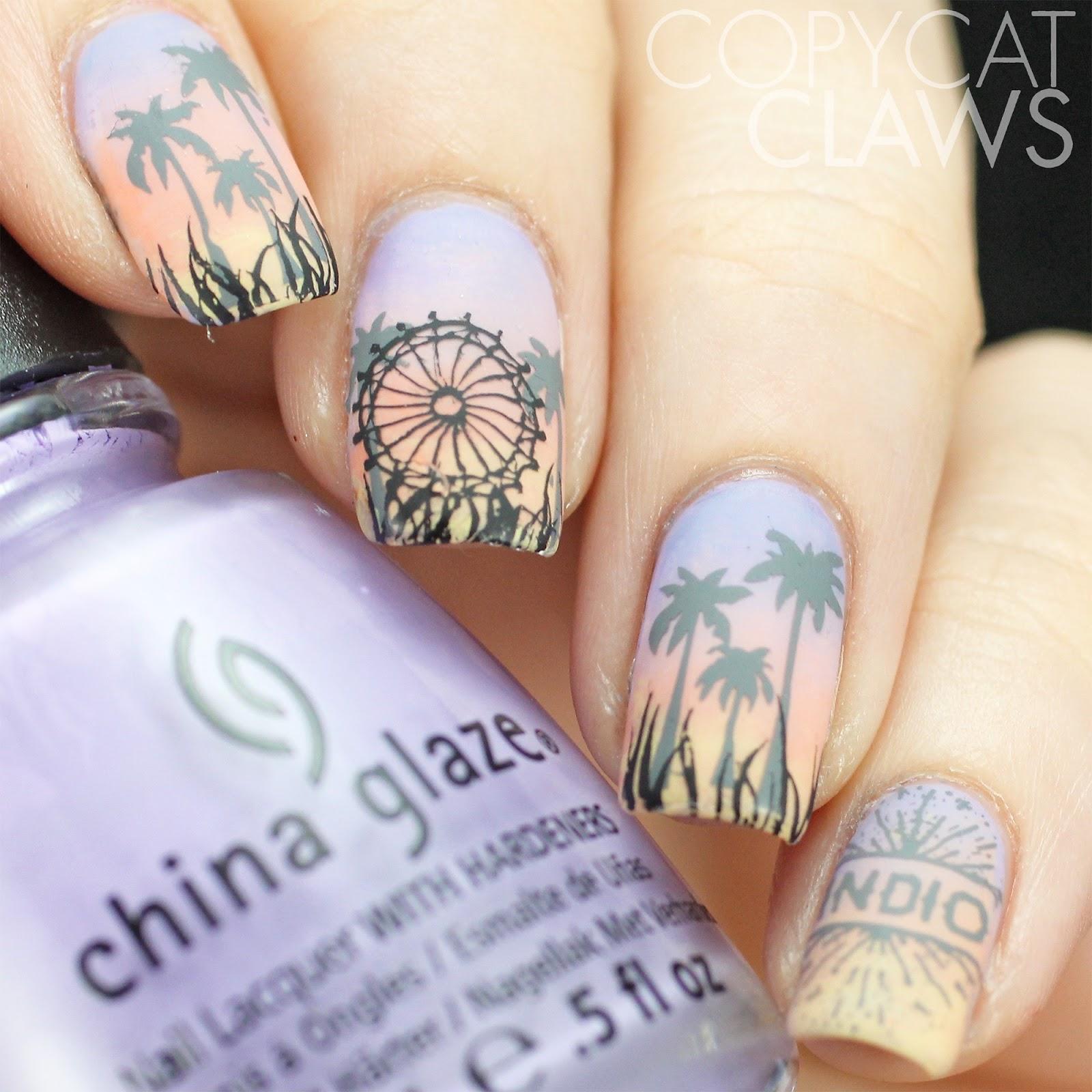 Copycat Claws: The Digit-al Dozen does Gradient+: Fan Brush Gradient