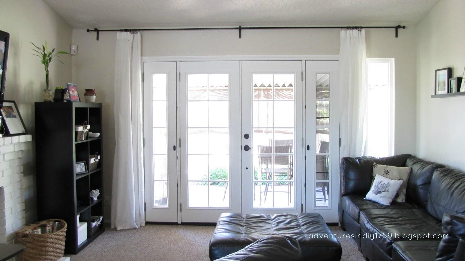 Adventures In DIY French Doors Window Treatment