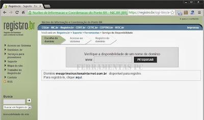 Registrar um dominio