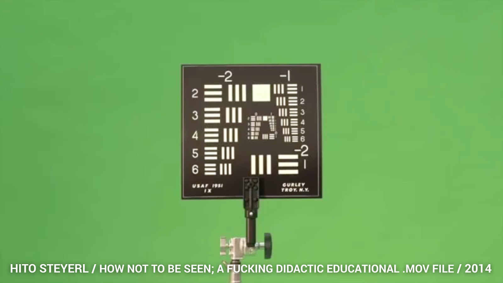 More radically, the artist Hito Steyerl, in her 2013 video work, How Not to be Seen: A Fucking Didactic Educational .MOV File highlights some of the ...