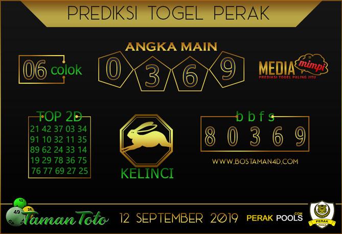 Prediksi Togel PERAK TAMAN TOTO 12 SEPTEMBER 2019