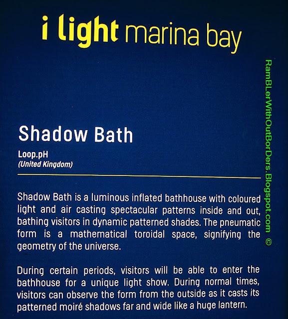 shadow bath,  art installation, i light Marina Bay festival, Singapore