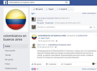 Búsqueda de mozos colombianos para restaurantes argentinos