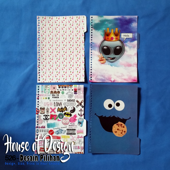PEMBATAS CARTOON TUMBLR BINDER 26 RING UKURAN B5 BAGIAN SAMPING