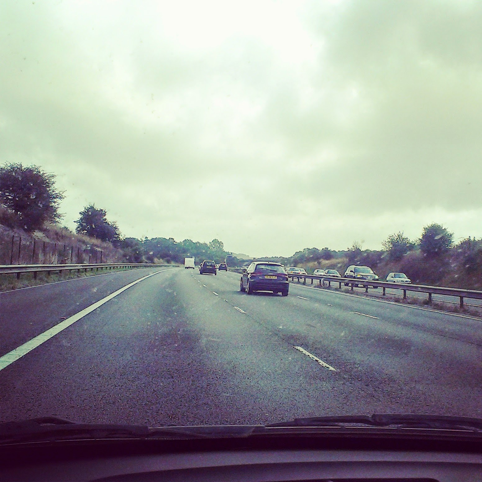 11am - driving along the motorway