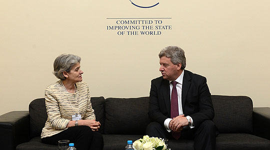 Ivanov-Bokova: Macedonia supports UNESCO's programmes for protection of cultural and historical heritage