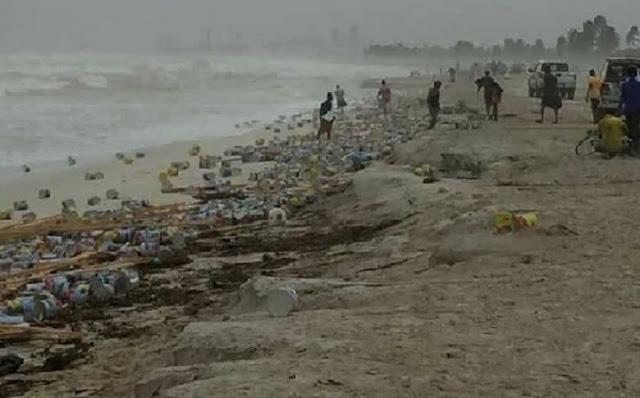 عاصفة تكشف عن أعمال سحر بالعشرات ملقاة في البحر في احدى الدول العربية !! (فيديو)