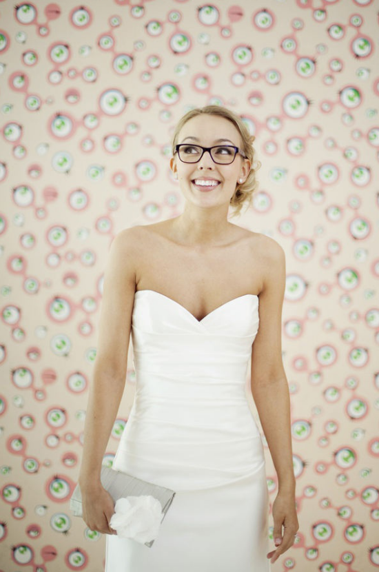 Sposa con gli occhiali, bride with glasses