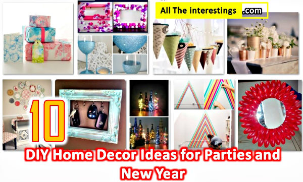 10 DIY Home Decor Ideas for Parties and New Year, Cheap Classy homemade new year's eve decorations, Table decor ideas, Best out of waste decor ideas, awesome Amazing DIY, Interior & Home Design, Gift wrapping tips tricks