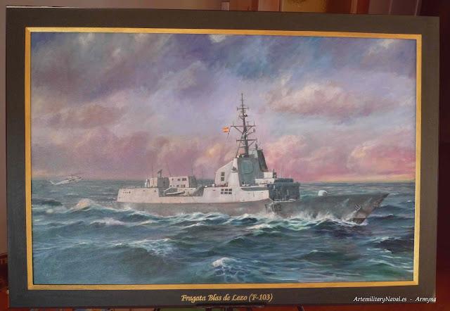 Pintura al óleo de la Fragata  Blas de Lezo F-103