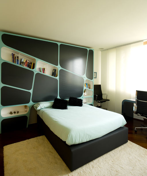 Dormitorios para jovenes varones young man s bedroom by for Decoracion de cuarto de hombre