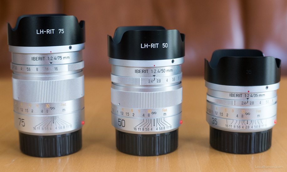 Handevision Iberit 35mm f/2.4, 50mm f/2.5 и 75mm f/2.4 с блендами