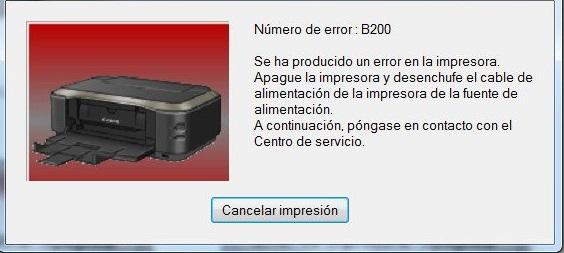 Solucionar El Error B200 Impresora Canon MG5150