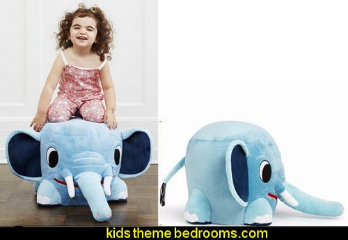 Stuffed Elephant Play Chair  circus bedroom ideas - circus theme bedroom decor - carnival theme bedrooms - decorating circus theme bedrooms - Ice Cream theme decor - balloon decor - Disney Dumbo - circus party theme - Roller Coaster Amusement Park wall decals - ice cream party decorations
