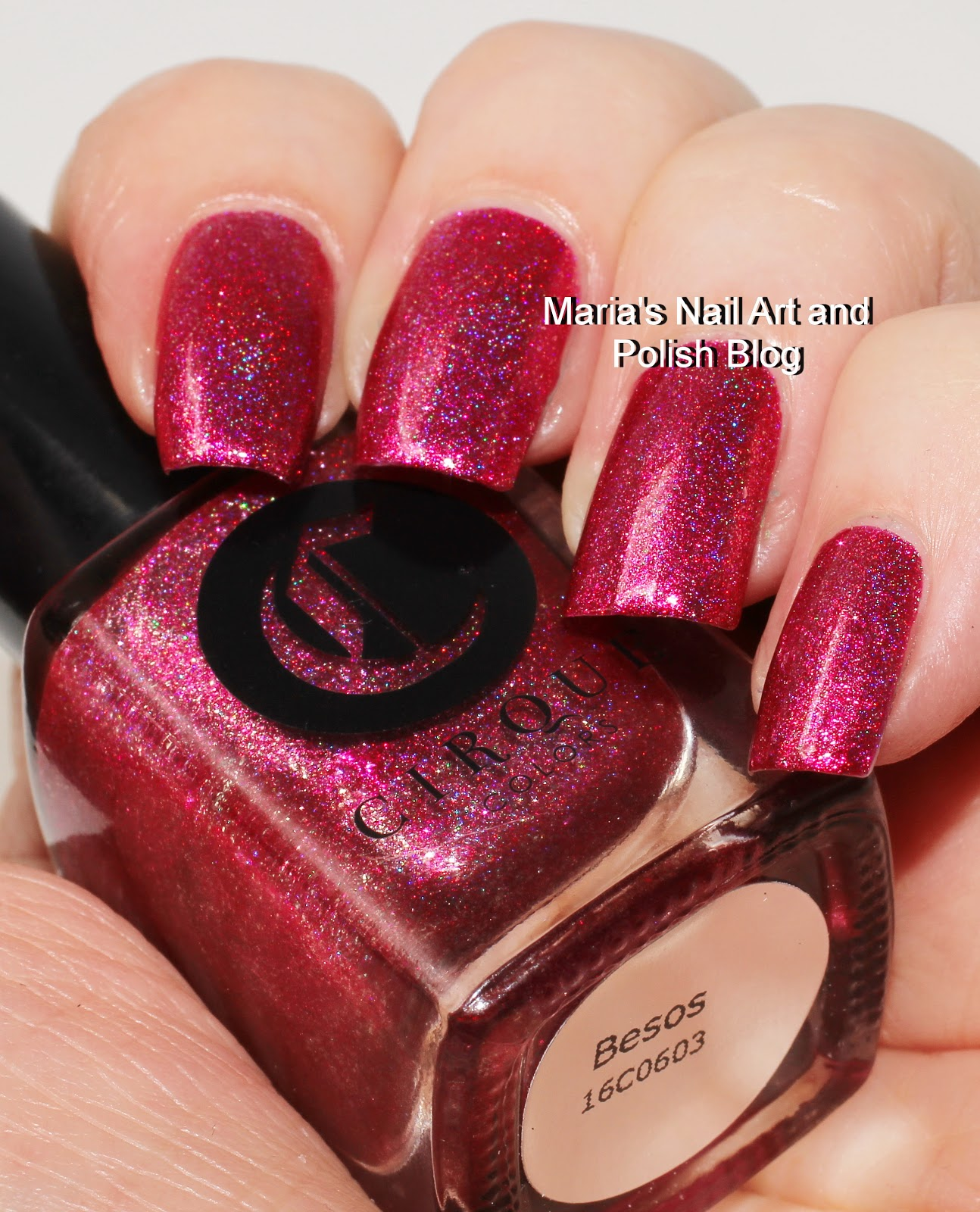 Marias Nail Art And Polish Blog Flushed With Stripes And: Marias Nail Art And Polish Blog: Cirque Besos Swatches