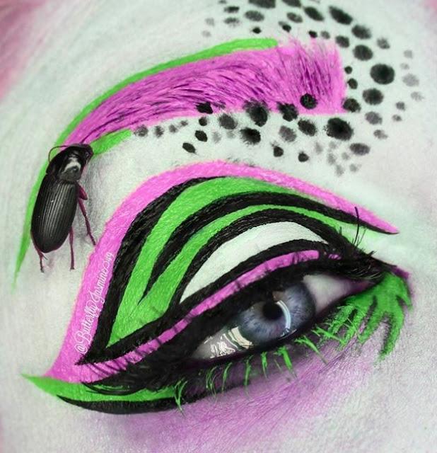 Ekstrem, Makeup Artis Gunakan Serangga Sungguhan di Karyanya