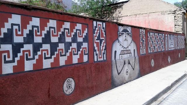 Pinturas murales en Diaguitas con imitación al estilo ancestral
