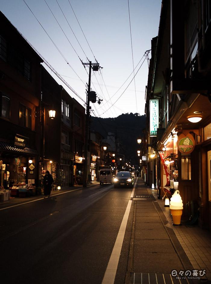 rue commerçante kinosaki onsen