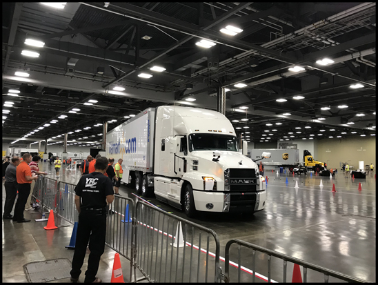 Mack Trucks salutes the dozens of drivers who participated in the 2018 National Truck Driving Championships (left), as well as the hard work and dedication of the 3.5 million professional truck drivers across the industry for National Truck Driver Appreciation Week (right), which runs from Sept. 9-15.